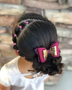 Dutch lace braid and bubble elastics IG: Amber Blankenship Kids Curly Hairstyles, Cute Little Girl Hairstyles, French Braid Hairstyles, Flower Girl Hairstyles, Ponytail Hairstyles, Trendy Hairstyles, Glamorous Hairstyles, Updos, Prom Hairstyles
