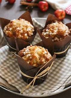 Muffin Recipes 92213 Who has never drooled over good big American muffins in which we dream of crunching to the teeth? Muffin Recipes, Cupcake Recipes, Dessert Recipes, Slow Cooker Desserts, Tea Cakes, Food Cakes, Healthy Muffins, Healthy Desserts, Cupcake Torte