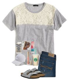 """Go follow @nc-preppy-living"" by jenna-faith11 ❤ liked on Polyvore featuring J.Crew, Abercrombie & Fitch, Too Faced Cosmetics, Birkenstock and Casetify"
