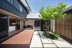 ガーデン施工事例 / アウトドアリビング 神奈川、ガーデン プライベート、ガーデン施工事例 横浜、庭 施工事例、ウッドデッキ 施工事例
