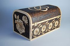 "Personalised Wooden ""Freya"" Trinket Box - Rear View"