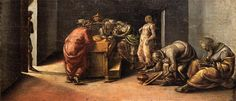 The Birth of St. John the Baptist - Signorelli Luca Saint Jean Baptiste, High Renaissance, Free Art Prints, Louvre, Madonna And Child, John The Baptist, Albrecht Durer, Art Database, Oil Painting Reproductions