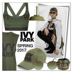 """Ivy Park Spring 2017 Collection!"" by whirlypath ❤ liked on Polyvore featuring Ivy Park, Ray-Ban and Balenciaga"