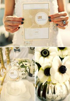 Love Sparkles Brightly Designed Invitations