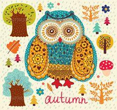 autumn owl by Molesko Studio