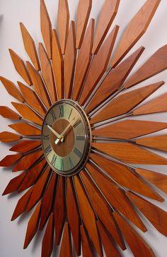Super Starburst Clock, by ClubModerne, via Etsy