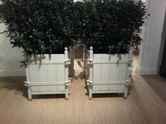 Discontinued Item Limited Stock Available French Versailles Antiqued White  Painted Elm And Iron Garden Planter No