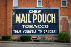 Mail Pouch Tobacco Wall Advertising in Concord, Michigan Spring Arbor, Grass Lake, Lake Garden, Dundee, Vintage Walls, Michigan, Pipes, Jackson, Advertising