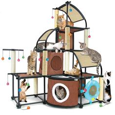 Kitty City Cat Activity Centre - modular system which allows you to build a climbing/scratching/den combo tailored to your cat's individual preferences.