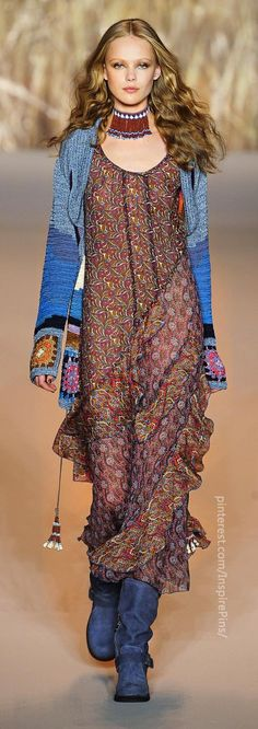 Anna Sui - notice granny squares on sleeves... too cute