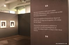 Valokuvaaja Nelli Palomäen näyttely Suomen Valokuvataiteen Museossa. Ruoholahti, Helsinki. Maaliskuu 2013.