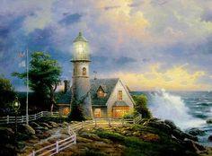 A Light in the Storm. Painted by Thomas Kinkade. http://www.thomaskinkade.com/magi/servlet/com.asucon.ebiz.catalog.web.tk.CatalogServlet?catalogAction=Product&productId=277&menuNdx=0