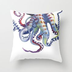 Sea Monster: pillow cover, octopus tentacles on Etsy, $35.00