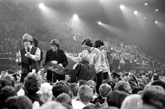 On 20 November 1964 The Glad Rag Ball, organised by London University took place at the Empire Pool, Wembley, London. The show started at 9 pm and finished at 7 am with 7,000 people turning up in all kinds of clothing. The show was hosted by Jimmy Savile and featured The Rolling Stones, Animals, Long John Baldry, Susan Maughan, Lorne Lesley, Ginger Johnson & his African Drummers and Humphrey Lyttelton. The Rolling Stones on stage.