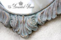 The Decorated House:~ How to Create a Beautiful Antique Look with Annie Sloan Chalk Paint ~ Blues - Wet Distressed