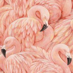Vinyl Tapete Rosa Flamingos 823820
