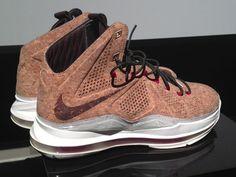 "7c6658f4321f Nike LeBron X ""Cork"" – Detailed Images Tnt Basketball"