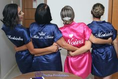 Robes de cetim bordados e personalizados - face: Clécia Nicacio