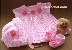 Baby Girl Crochet Crochet Baby Hats Baby Blanket Crochet Free Crochet Baby Girl Dresses Cute Dresses Baby Sweaters Crafts To Do Baby Booties Crochet Diy, Crochet For Kids, Crochet Children, Baby Girl Crochet, Crochet Baby Clothes, Crochet Dresses, Baby Patterns, Crochet Patterns, Crochet Baby Cardigan Free Pattern