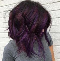 Purple Hair Color Ideas - Pastel Ombre Silver Shades