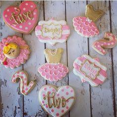 "Hayleycakes And Cookies on Instagram: ""A tiny dancer is turning two!! #atxbakery #atxcookies #ballerina #decoratedcookies"""
