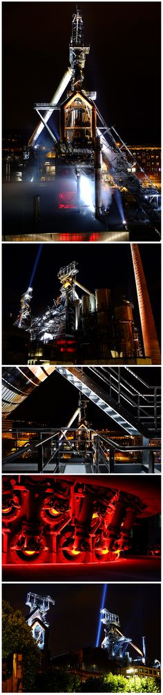 Blast furnaces in Esch-Belval, Luxembourg Architectural lighting by livebau
