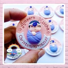 BABY IN A SWADDLE CHRISTENING MAGNET SOUVENIRS 100% HANDMADE MATERIAL: POLYMER CLAY