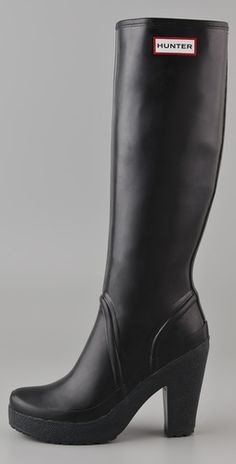 Hunter Lonny (high-heeled rubber boots!! Can't you just imagine me ...