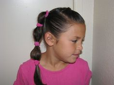 colorful puffy braids / Teen / Girls / Hairstyles / Hairstylesbymommy