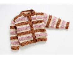 Childs Striped Cardi Pattern
