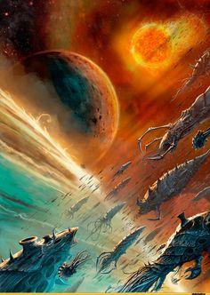 / /2ЯГ/ J ¿i,warhammer 40000,фэндомы,tyranids,wh starship