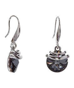 04cf55be4 callura Silvernight & Silvertone Drop Earrings With Swarovski® Crystals