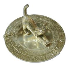 Brass Garden Sundial - Cat and Mouse   24.99