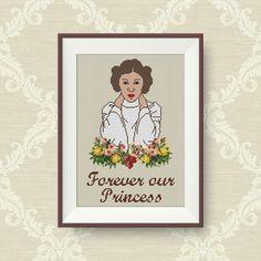 BUY 2 GET 1 FREE Princess Leia Cross stitch pattern Star