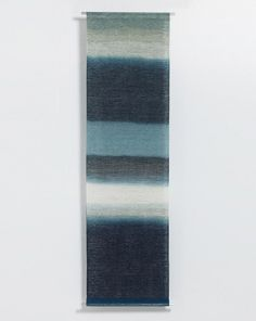 Wavelet of Lake 1, 2010, indigo dyed pineapple fibre, by Shihoko Fukumoto