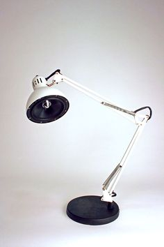 Amplifier – car speaker, Ikea lamp, hand built amplifier (2008) by Bob Turek