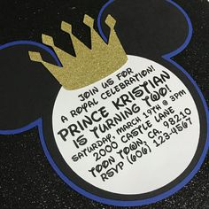 NEW-Royal Prince Mickey Mouse Black and Blue by MAKSCraftshop