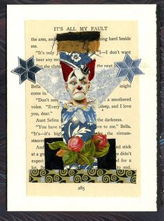 It's All My Fault  Collage Greeting Card por moonmothpress en Etsy, $6,00