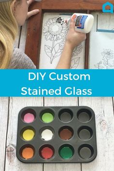 How to stained glass with this easy tutorial. Stained glass how to make faux stained glass. This diy project looks amazing! Make a stained glass idea easily with this DIY idea. Upcycled Crafts, Diy And Crafts, Diy Crafts Vintage, Vintage Art, Custom Stained Glass, Faux Stained Glass, How To Do Stained Glass Diy, Stained Glass Crafts, Shabby