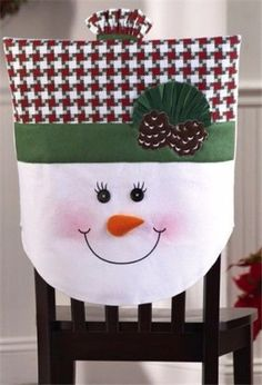 Where to buy 2015 Christmas chair cover set, Christmas Mrs. snowman chair cover, Christmas home decor Christmas Train, Christmas Sewing, Christmas Snowman, Christmas Home, Christmas Holidays, Christmas Ornaments, Christmas Chair Covers, Christmas Decorations For The Home, Artisanal