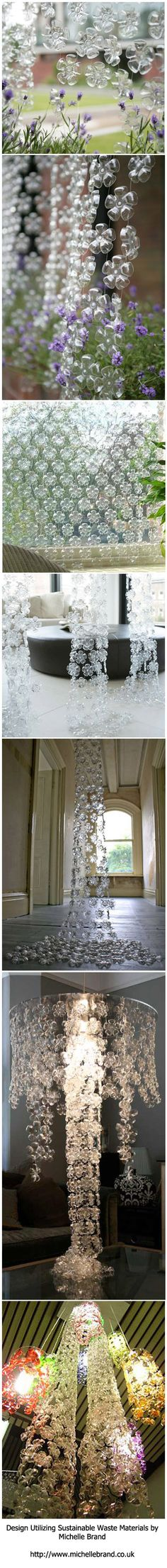 Michelle Brand :: Decor created from the bottoms of plastic containers. Creating beautiful decor with waste products. Visit her site @ http://www.michellebrand.co.uk or http://michellebrand.tumblr.com for more information.
