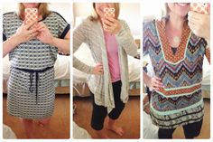 The dress and the cardigan