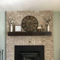 Rustic Mantle Fireplace Mantel Wall Shelf Floating Wood Beam