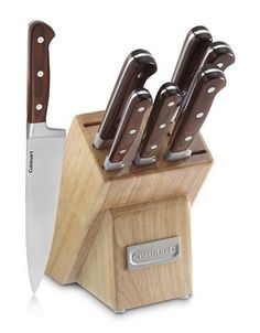 Cuisinart Pakka Wood Collection 8-Piece Triple-Rivet Cutlery Block Set
