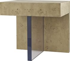 The Plinth Side Table maintains the perfect balance of bold forms and mixed materials.