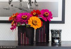 Vase aus Filz / felt vase / vase en feutre