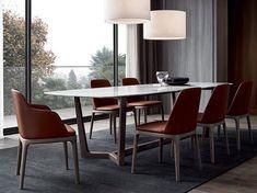 TABLE RECTANGULAIRE EN MARBRE CONCORDE | TABLE RECTANGULAIRE | POLIFORM