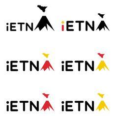 Logo iEtna con applicazione colori (Rosso&Giallo colori Regione Sicilia)