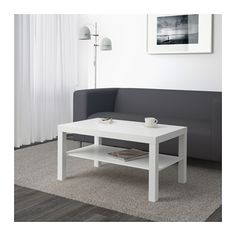 LACK Coffee table IKEA Separate shelf for magazines, etc. helps you keep your things organized and the table top clear.