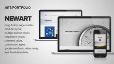 Download and review of NewArt - Stylish Art & Portfolio Theme, one of the best Themeforest Creatives themes